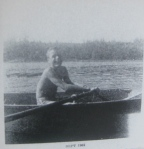 ted bundy young teenager preteen adolescent shirtless rowing boat sailing water old family photograph