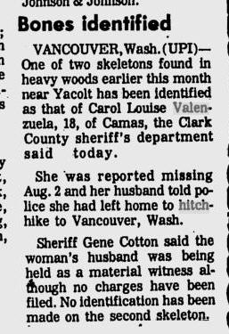 Ellensburg Daily Record - Oct 25, 1974 Carol Valenzuela