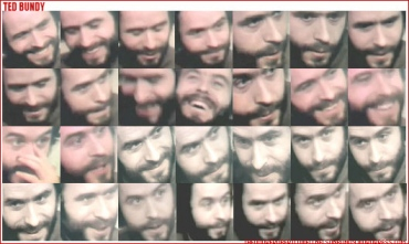 ted bundy beard collage