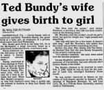 ted bundys wife gives birth to girl