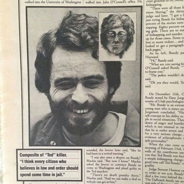 ted bundy beard looking like a 15 year old laughing smiling beautiful and innocent in his life 2